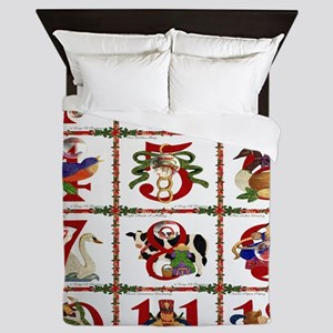 12 Days Of Christmas Queen Duvet