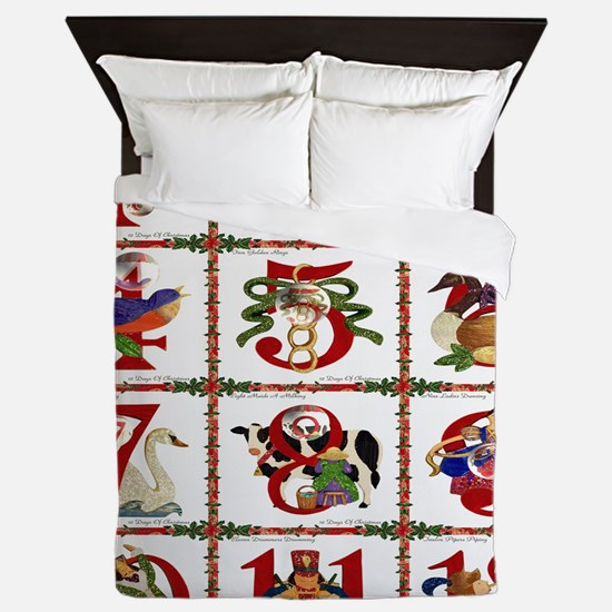 12 Days Of Christmas Queen Duvet