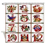 12 Days Of Christmas Shower Curtain