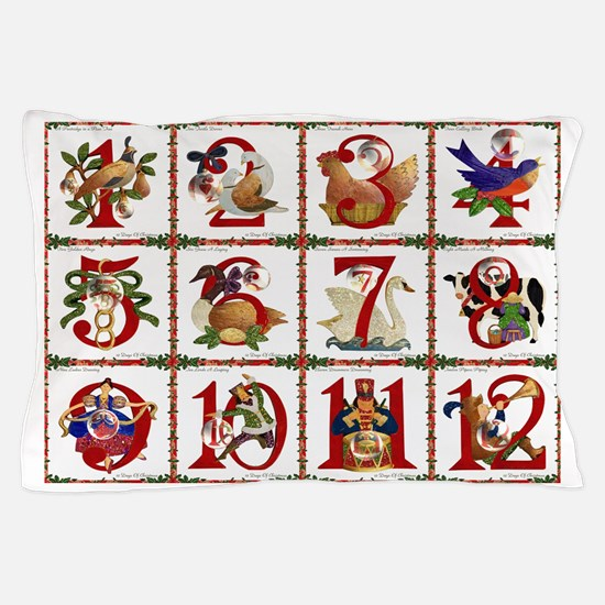 12 Days Of Christmas Pillow Case