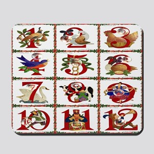 12 Days Of Christmas Mousepad