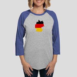 German Flag (shape) Long Sleeve T-Shirt