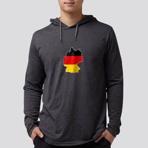 German Flag (shape) Long Sleeve T-Shirt