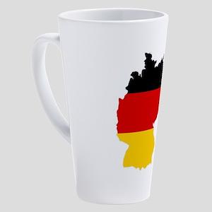 d-flag-shape 17 oz Latte Mug