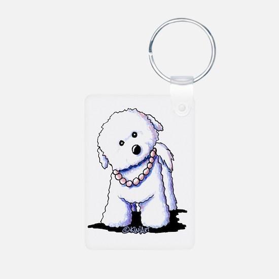 KiniArt Bichon In Pearls Keychains