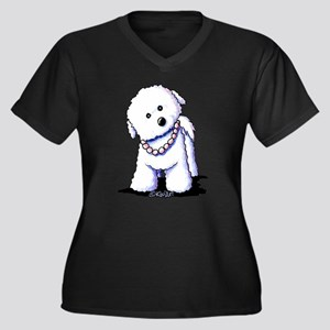 KiniArt Bich Women's Plus Size V-Neck Dark T-Shirt