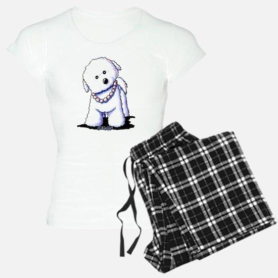KiniArt Bichon In Pearls Pajamas