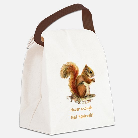 Never Enough Red Squirrels Fun Animal Quote Canvas