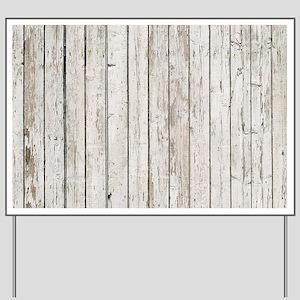 shabby chic white barn wood Yard Sign