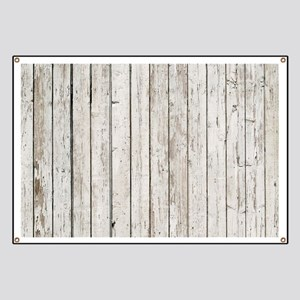 shabby chic white barn wood Banner