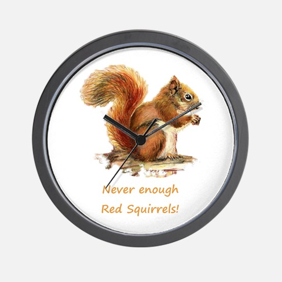 Never Enough Red Squirrels Fun Animal Wall Clock