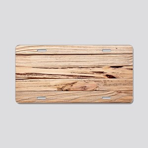 western country barn wood Aluminum License Plate