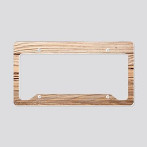 western country barn wood License Plate Holder