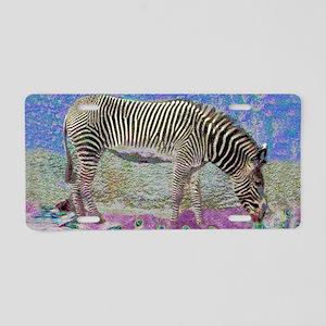 Dusty Zebra Dreams Aluminum License Plate