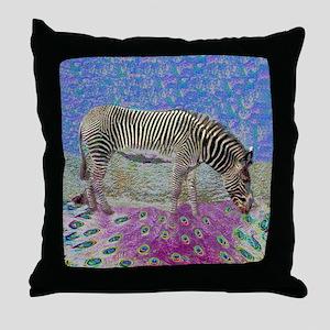 Dusty Zebra Dreams Throw Pillow