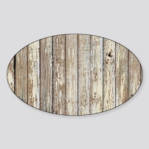 shabby chic white barn wood Sticker