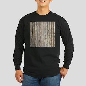 shabby chic white barn wood Long Sleeve T-Shirt