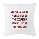 Great Friend1 Woven Throw Pillow