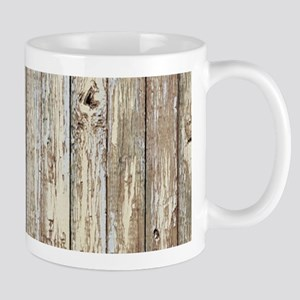 shabby chic white barn wood Mugs