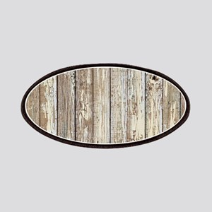 shabby chic white barn wood Patch