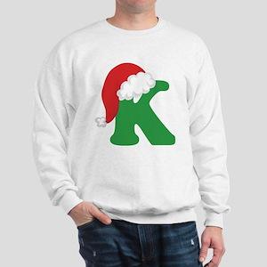 Christmas Letter K Alphabet Sweatshirt