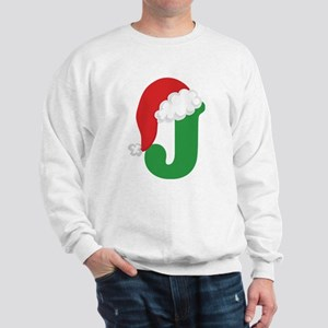 Christmas Letter J Alphabet Sweatshirt