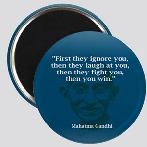 GANDHI - FIRST THEY IGNORE YO Magnet