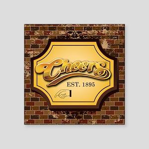 "cheers Square Sticker 3"" x 3"""