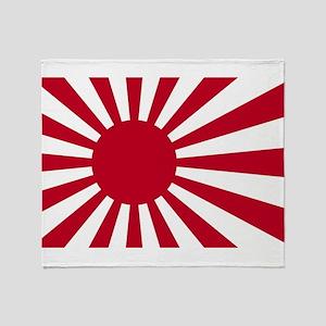Naval Ensign of Japan - Japanese Ris Throw Blanket