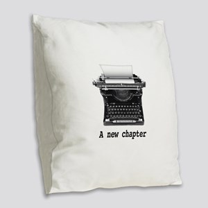 New chapter Burlap Throw Pillow