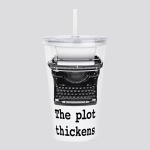 Plot thickens Acrylic Double-wall Tumbler