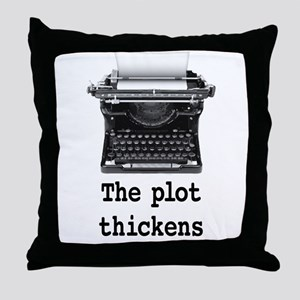 Plot thickens Throw Pillow