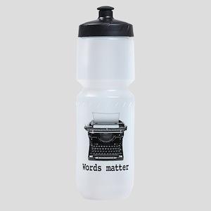 Words matter Sports Bottle