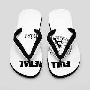 Full Metal Anarchist Flip Flops