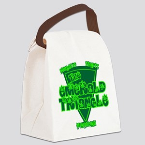 emerald triangle Canvas Lunch Bag