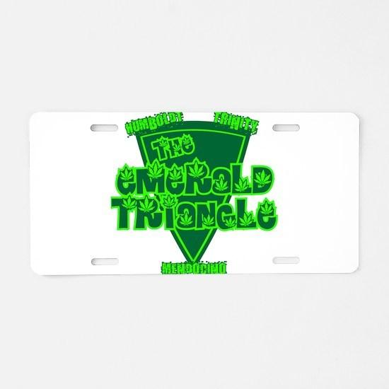 emerald triangle.png Aluminum License Plate