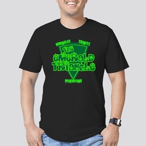 emerald triangle Men's Fitted T-Shirt (dark)