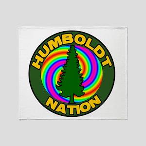 humboldt psychadelic nation Throw Blanket