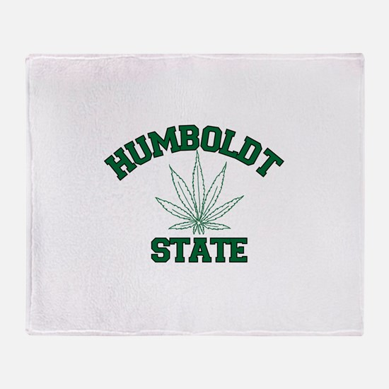 HUMBOLDT POT STATE.png Throw Blanket