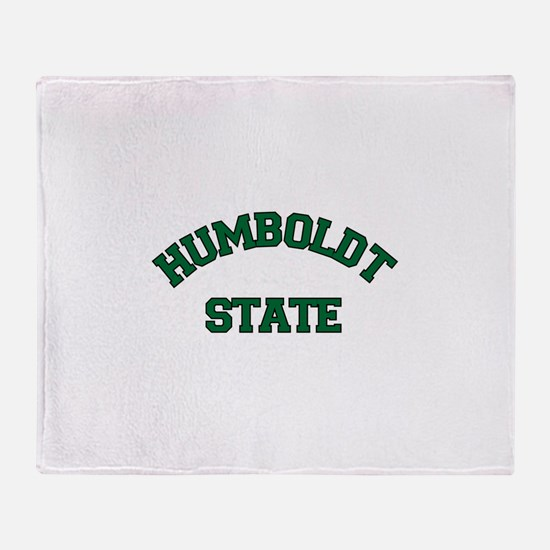HUMBOLDT STATE.png Throw Blanket