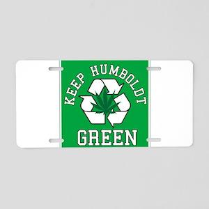 keep humboldt green Aluminum License Plate
