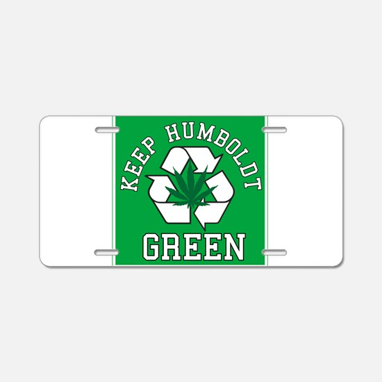 keep humboldt green.png Aluminum License Plate