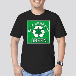 keep humboldt green Men's Fitted T-Shirt (dark