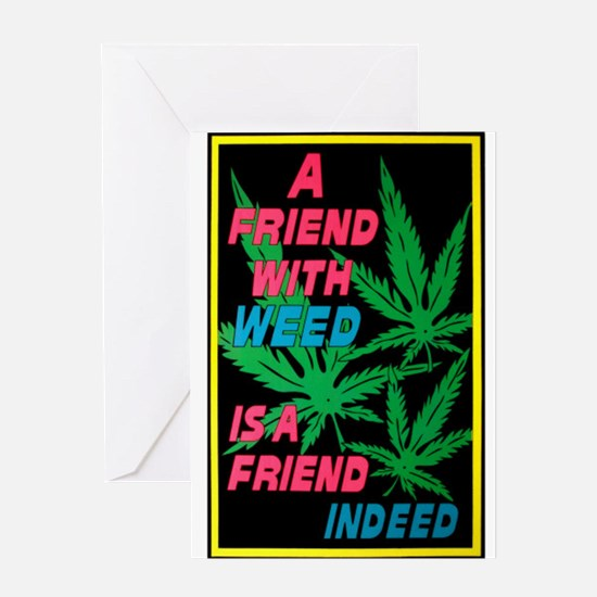 friend w weed.png Greeting Card