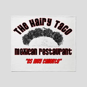 the hairy taco Throw Blanket