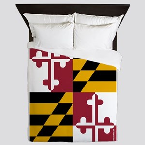 Maryland State Flag Queen Duvet