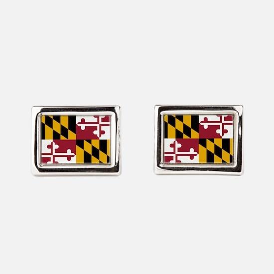 Maryland State Flag Rectangular Cufflinks