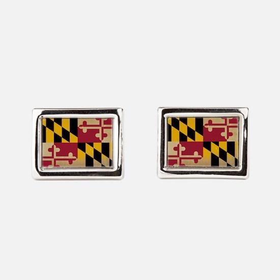 Maryland State Flag VINTAGE Rectangular Cufflinks