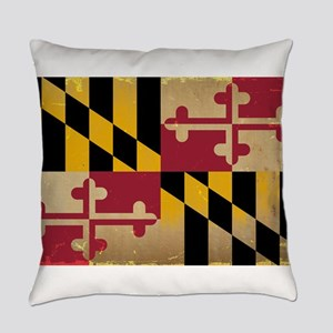 Maryland State Flag VINTAGE Everyday Pillow