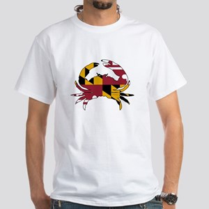 Maryland State Flag Crab White T-Shirt